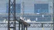 Close shot of power plant. Stock Footage