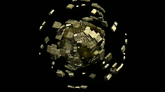 Imploding cubed 3D world Stock Footage