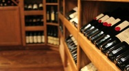 Stock Video Footage of Racks of wine in a winery
