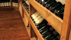 Wine Racks Stock Footage