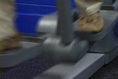 Feet On Elliptical Stock Footage
