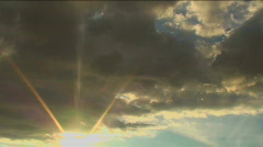 Sunburst Skywriter Stock Footage