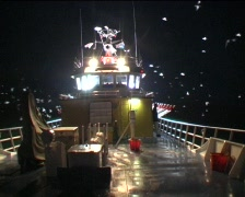 Fishing boat night Stock Footage