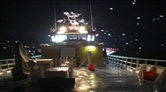 Stock Video Footage of fishing boat night
