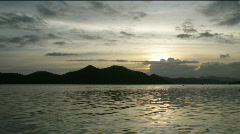 Time lapse of sunset in Coron town, Philippines Stock Footage