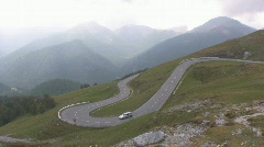 Alpine road Stock Footage