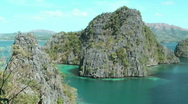 Stock Video Footage of Lagoon at Coron island , Philippines
