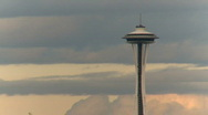 Stock Video Footage of Seattle Space Needle - time lapse (3 of 3)