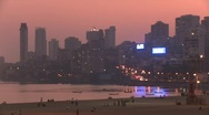 Stock Video Footage of Mumbai evening skyline