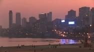 Mumbai evening skyline Stock Footage