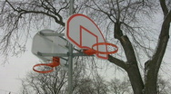 Winter basketball hoop. Stock Footage