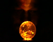 Divination from glass ball - stock footage