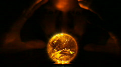 Divination from glass ball Stock Footage