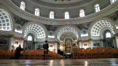 Inside large Catholic Church (HD) Stock Footage