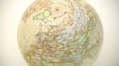 Northern Hemisphere Globe Timelapse - stock footage