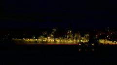 Night warship Stock Footage