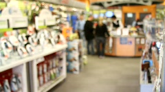 Retail Electronics Store Stock Footage