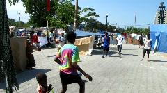 People Playing in Haiti (HD) m - stock footage