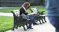 Woman Studying in Park HD Footage