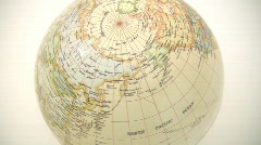 Northern Hemisphere Globe - stock footage