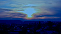 Russian Countryside: a Winter Sunset 2, HD - stock footage