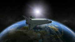 Earth Space Shuttle - stock footage