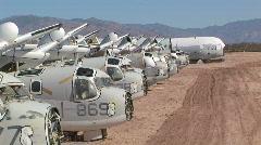 Airplane Boneyard Stock Footage