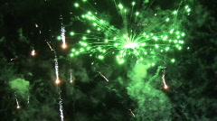 geneva fireworks - stock footage