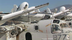Military Airplane Boneyard - Plane Graveyard in Tucson, Arizona Stock Footage