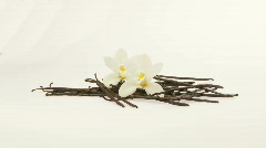 Vanilla with flowers Stock Footage