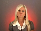 "Stock Video Footage of Beautiful Blonde Shakes Her Head ""No"" (1)"