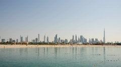 Dubai City Skyline Stock Footage