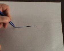 We draw fish Stock Footage
