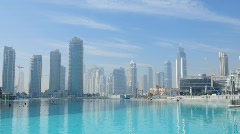 Downtown Burj Dubai  Stock Footage