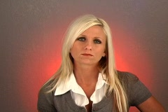 "Beautiful Blonde Shakes Her Head ""Yes"" (2) Stock Footage"