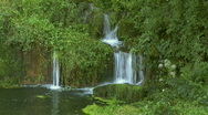 Beautiful waterfall in forest Stock Footage
