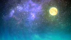 Night sky loop - stock footage
