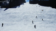 Busy Ski Slope Time Lapse Stock Footage