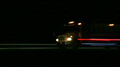 School Bus night ride Stock Footage
