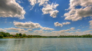Stock Video Footage of Blue sky over lake hdr time lapse