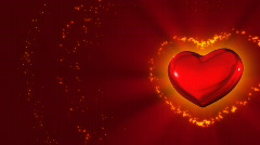 Red Heart of Valentine`s Day Stock Footage