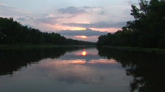 River sunset bayou Stock Footage