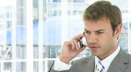 Stock Video Footage of Self-assured business man on phone