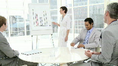 Assertive businesswoman doing a presentation - stock footage