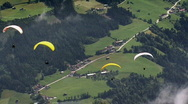 Parachute - paraglider crossing Stock Footage