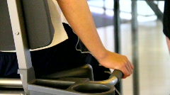 People workout at gym Stock Footage