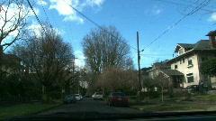 Driving Thru Neighborhood Stock Footage