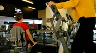 Stock Video Footage of People workout at gym