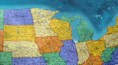 United States Map Stock Footage