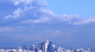Los Angeles Downtown Clouds Time Lapse SLR 02 60x Stock Footage